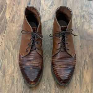 Tony Lama brown booties